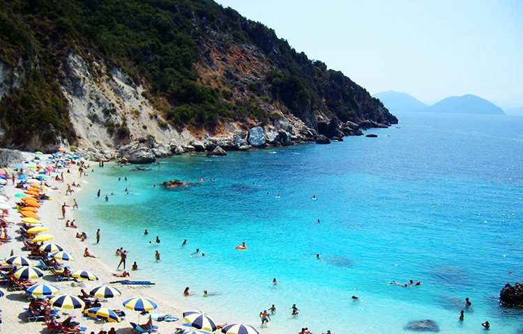 Agiofili White Beach, Lefkada island, Holiday and Trips