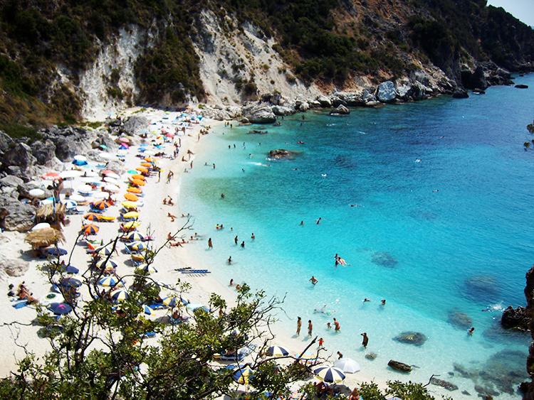 Agiofili White Beach, Lefkada island, Holiday and Trips