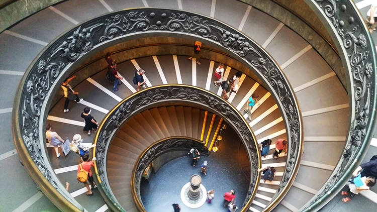 Vatican Museums, Bramante Staircase, Rome, Holiday and Trips