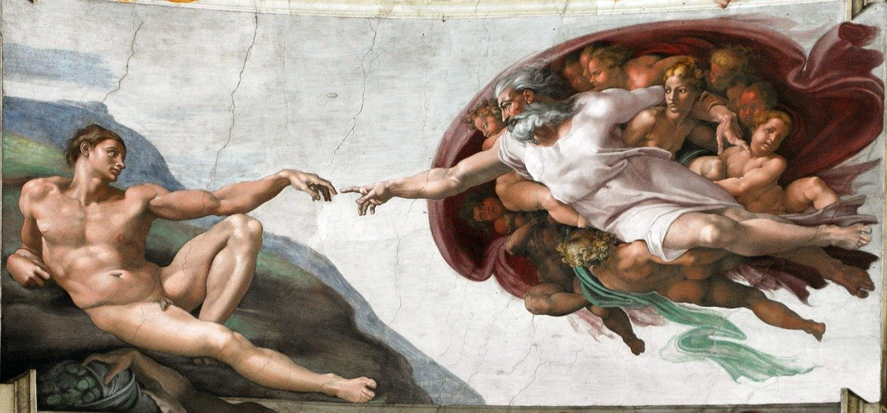 creation-of-man sistine chapel