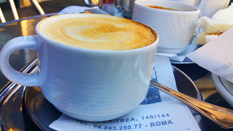 Maritozzi and cappuccino in Rome - Italian Breakfast 1