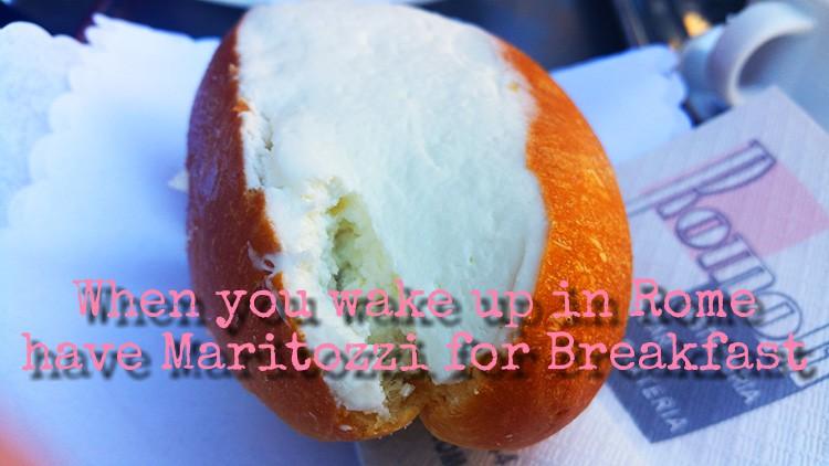 Maritozzi and cappuccino in Rome - Italian Breakfast