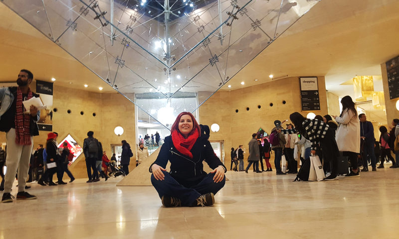Piramida inversata, Muzeul Luvru, Paris