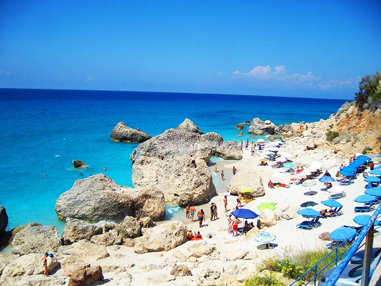 Megali Petra Beach in Lefkada