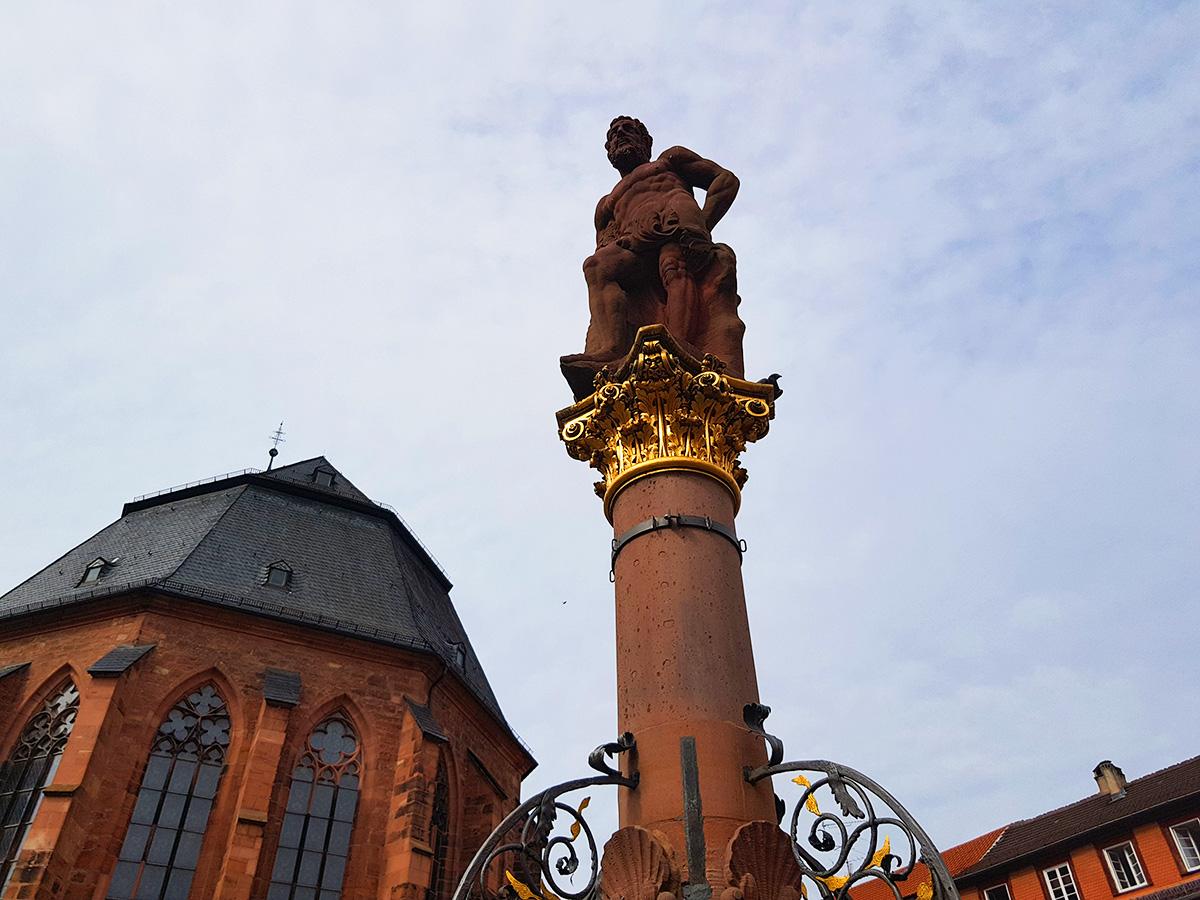 Statuia lui Hercule, Heidelberg, Germania