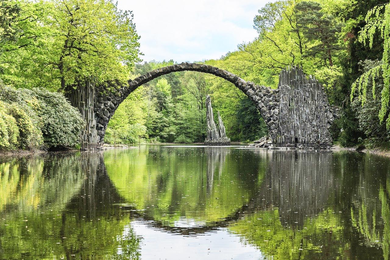 Rakotzbrücke The Devil's Bridge (Kromlau, Germany)