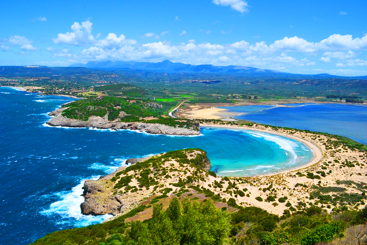 Plaja Voidokilia – Ape albastre uimitoare