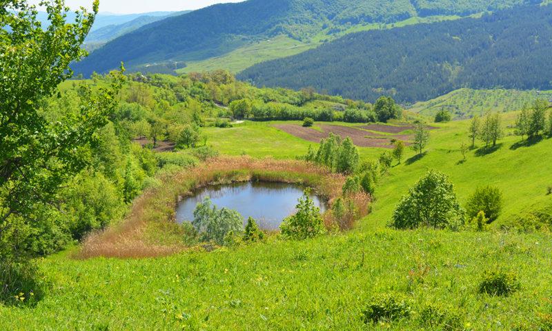 Lacul Castelului, Platoul Meledic, Buzau, Romania