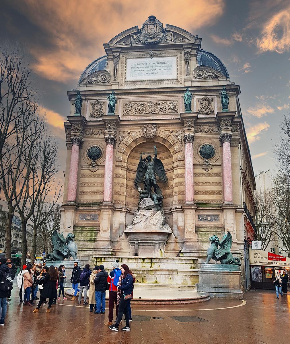 Saint-Michel fountain, Paris