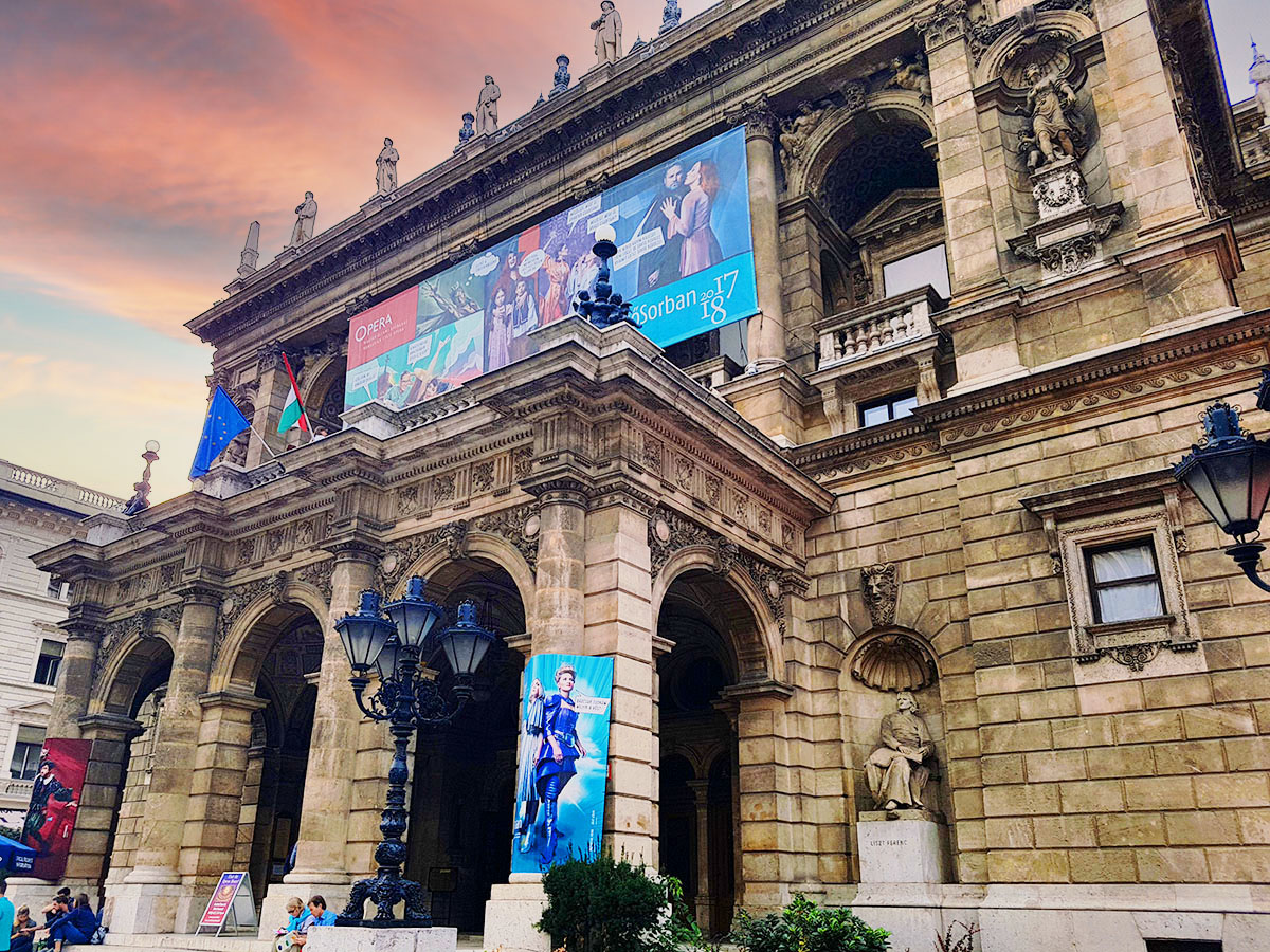 The Hungarian State Opera House – an imposing building in Budapest