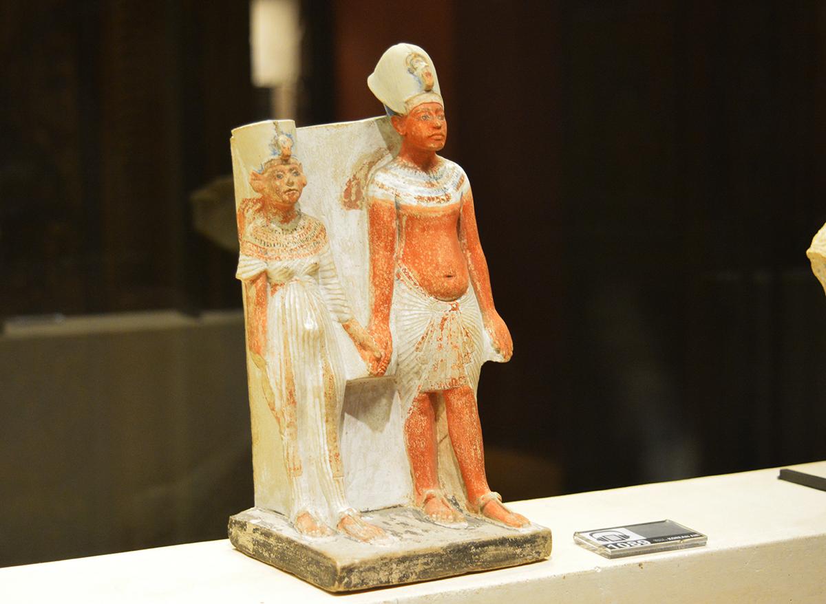 Akhenaten and Nefertiti, Egyptian antiquities, Louvre