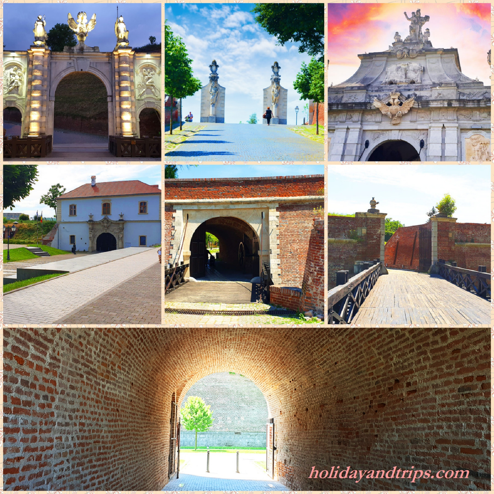 Alba Carolina Gates and the order in which to visit them