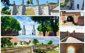 Portile cetatii bastionare Alba Carolina