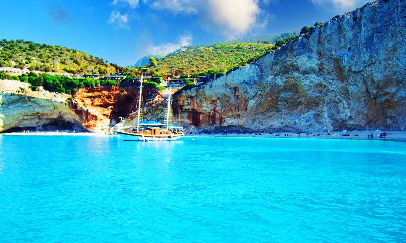 Plaja Porto Katsiki, Lefkada, Grecia